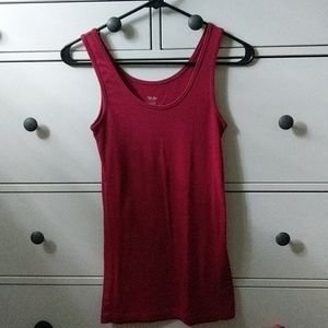 MOSSIMO size S super soft red tank- perf Condition